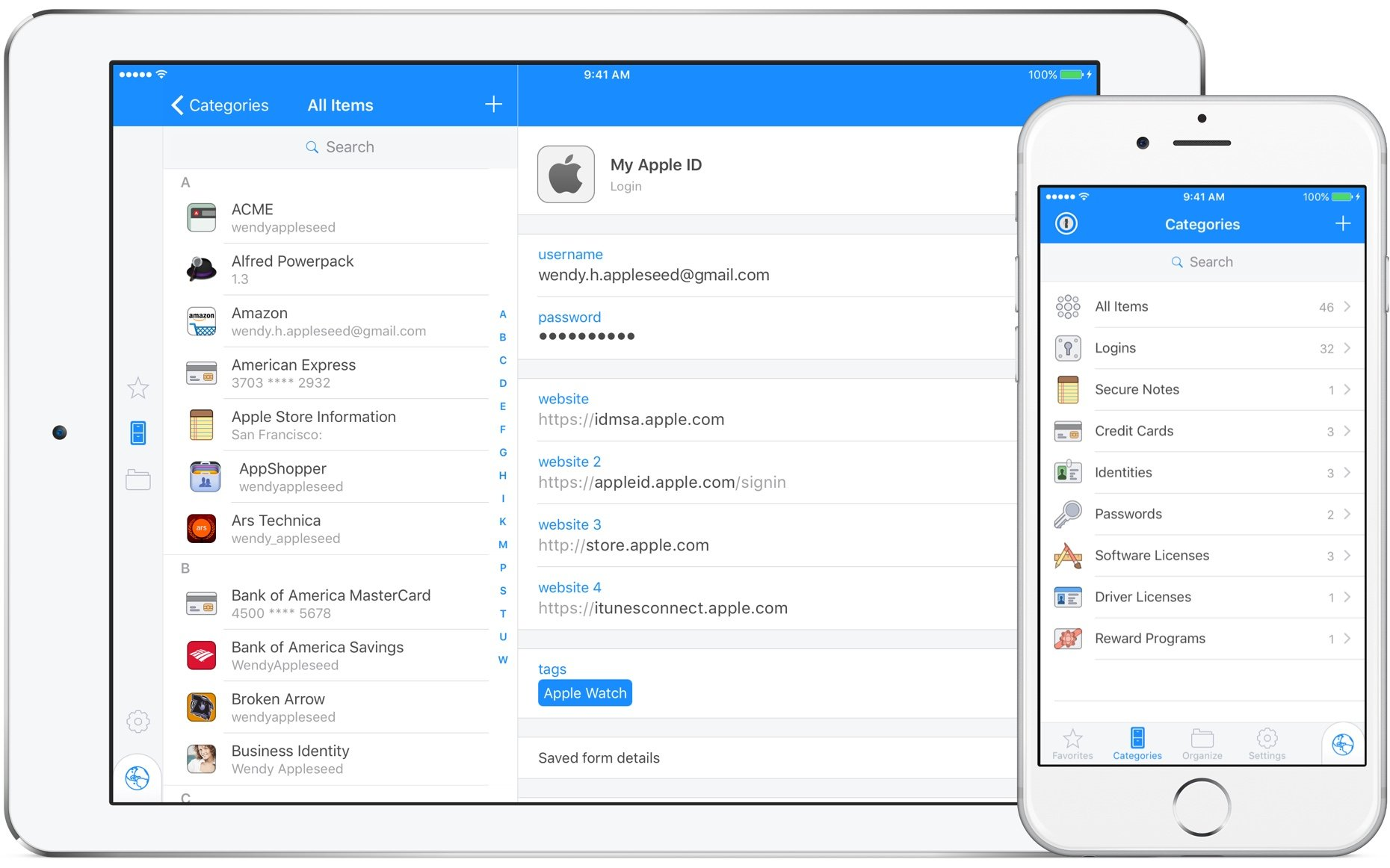 1Password is available pretty much everywhere – including iOS.
